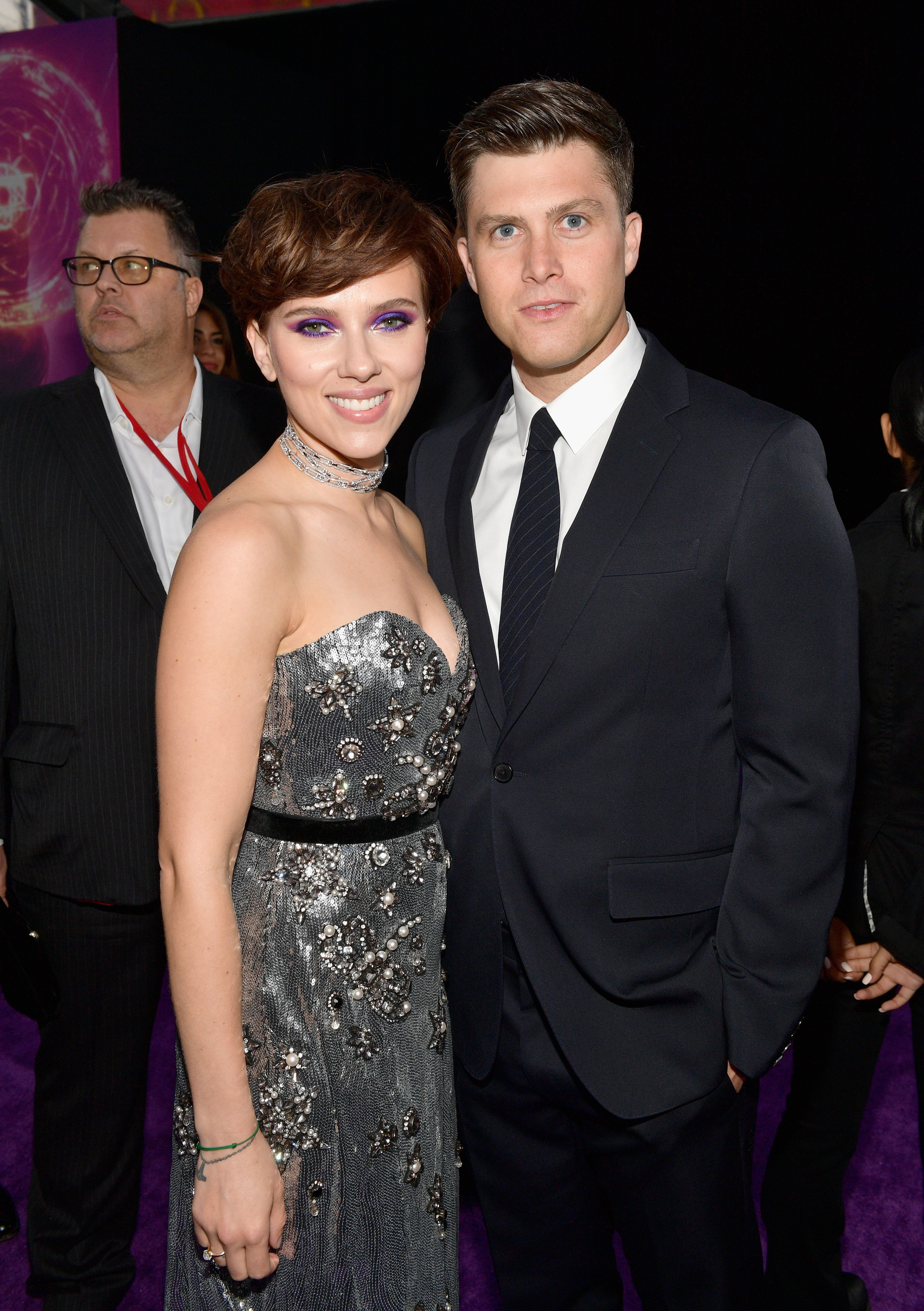 Scarlett Johansson and her boyfriend Colin Jost shared a sweet moment of PDA on SNL recommend