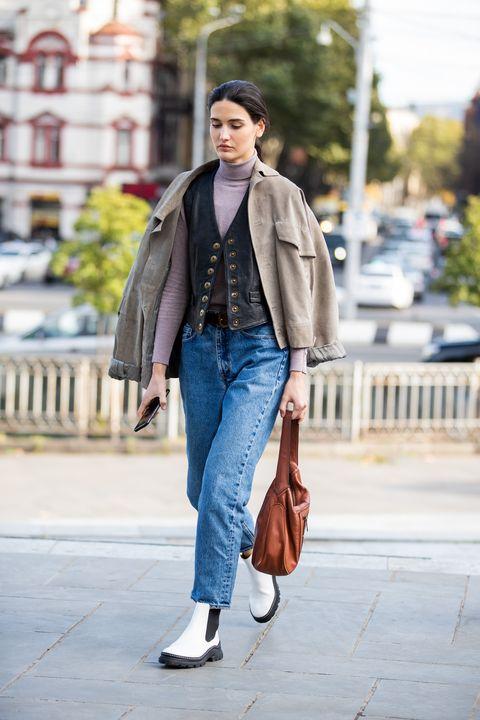 Clothing, Jeans, Street fashion, Photograph, Fashion, Denim, Coat, Snapshot, Outerwear, Blazer,