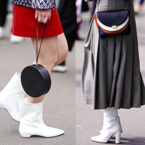 Le scarpe bianche funzionano anche con il freddo, sono un trend forte e non puoi non provarle sui tuoi prossimi look invernali giorno e sera: dalle sneakers bianche alle pump scollate V, passando per texani e tronchetti.