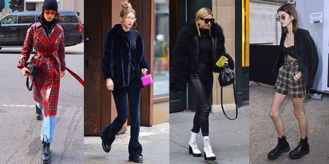 eccezionale gamma di stili scarpe sportive aspetto dettagliato Scarpe moda 2018: gli anfibi sono i più amati dalle celeb