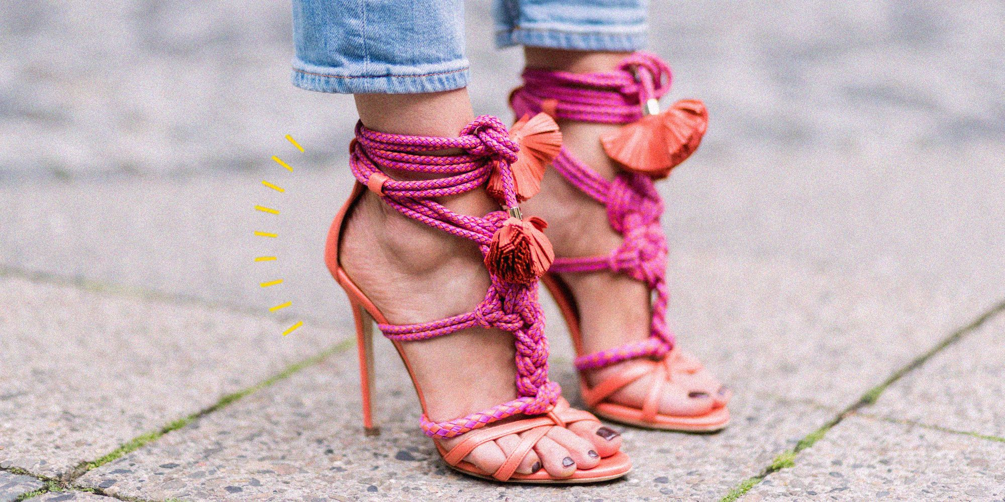 Se le scarpe della moda estate 2020 sono i sandali con tacco
