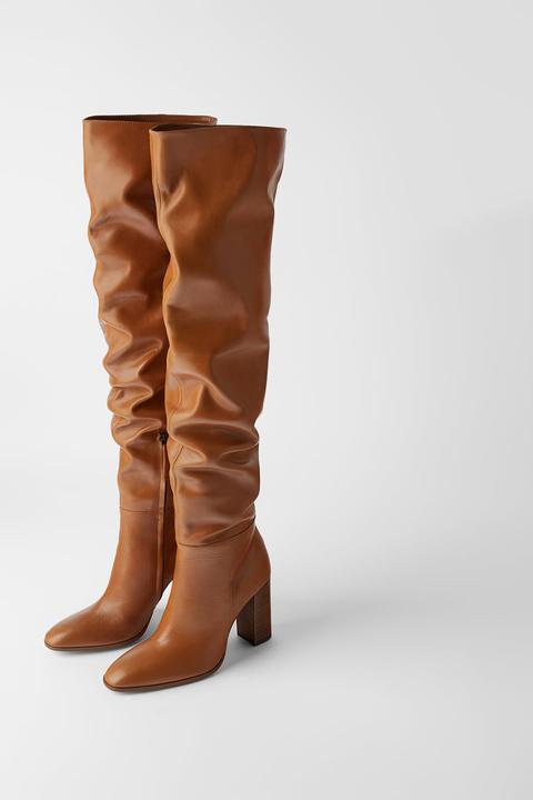 buy online 41d45 b6082 Scarpa moda 2019: gli stivali con tacco di Zara collezione ...