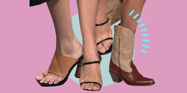 la moda donna delle scarpe estive è un tripudio di forme, tacchi e vestibilità rivolte all'estetica anni 90 e 70provale con sandali, zeppe, texani e sabot