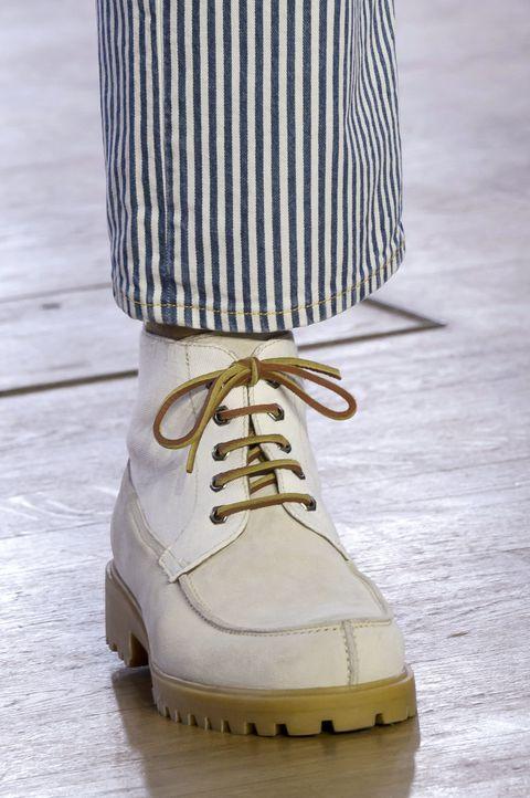 Footwear, Shoe, Yellow, Boot, Beige, Hiking boot, Sandal,