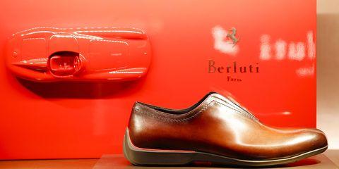 Footwear, Red, Orange, Shoe, Tan, Material property, Peach, Athletic shoe,