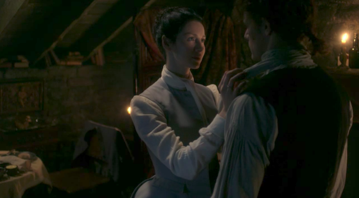 Jamie and Claire in Outlander episode 6