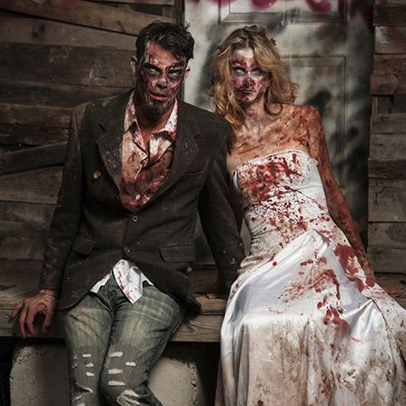 scary couples costumes chucky bride zombies