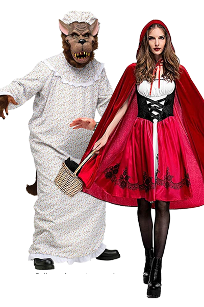 scary couples costumes  little red riding hood and bad granny