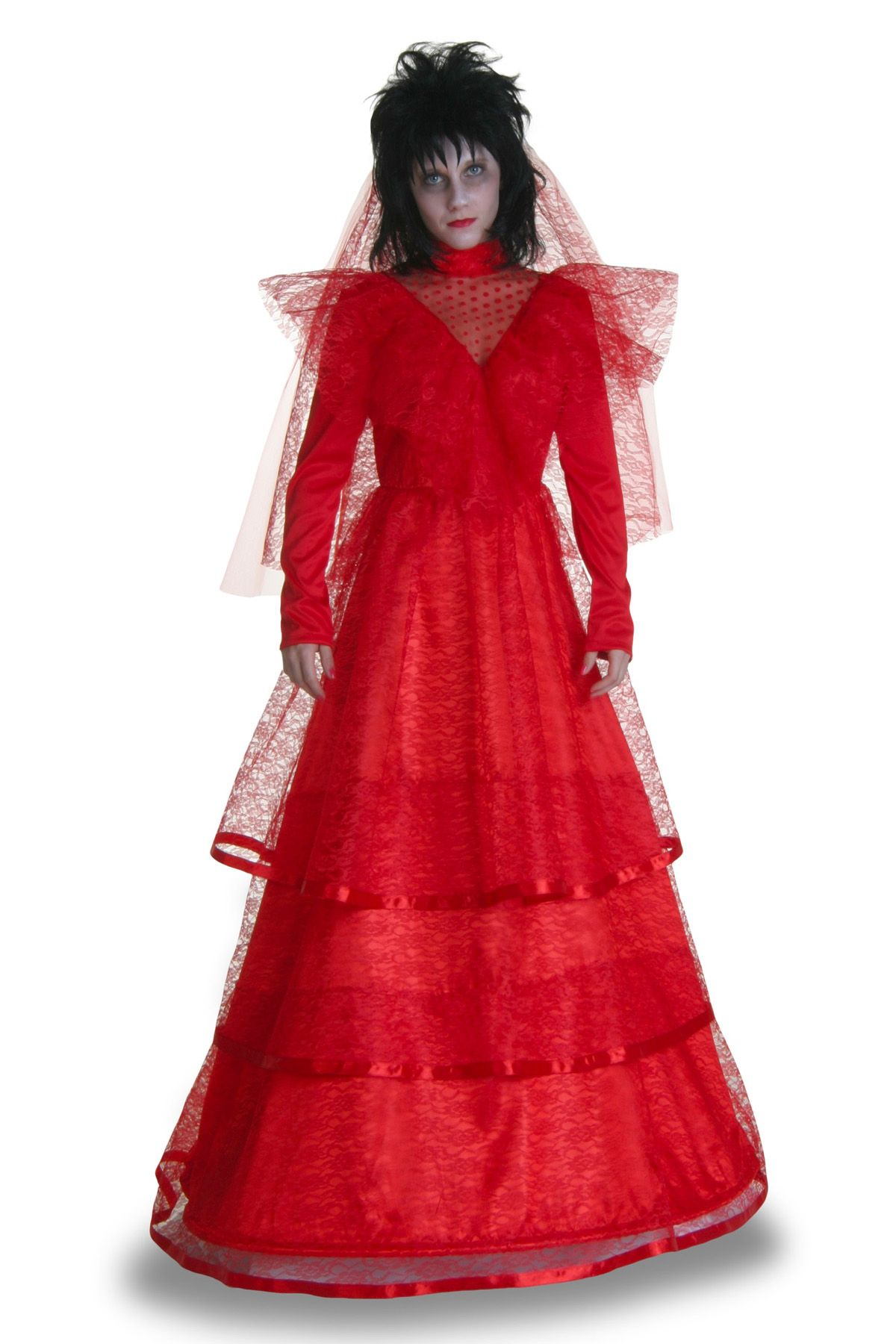 scary halloween costumes gothic red wedding