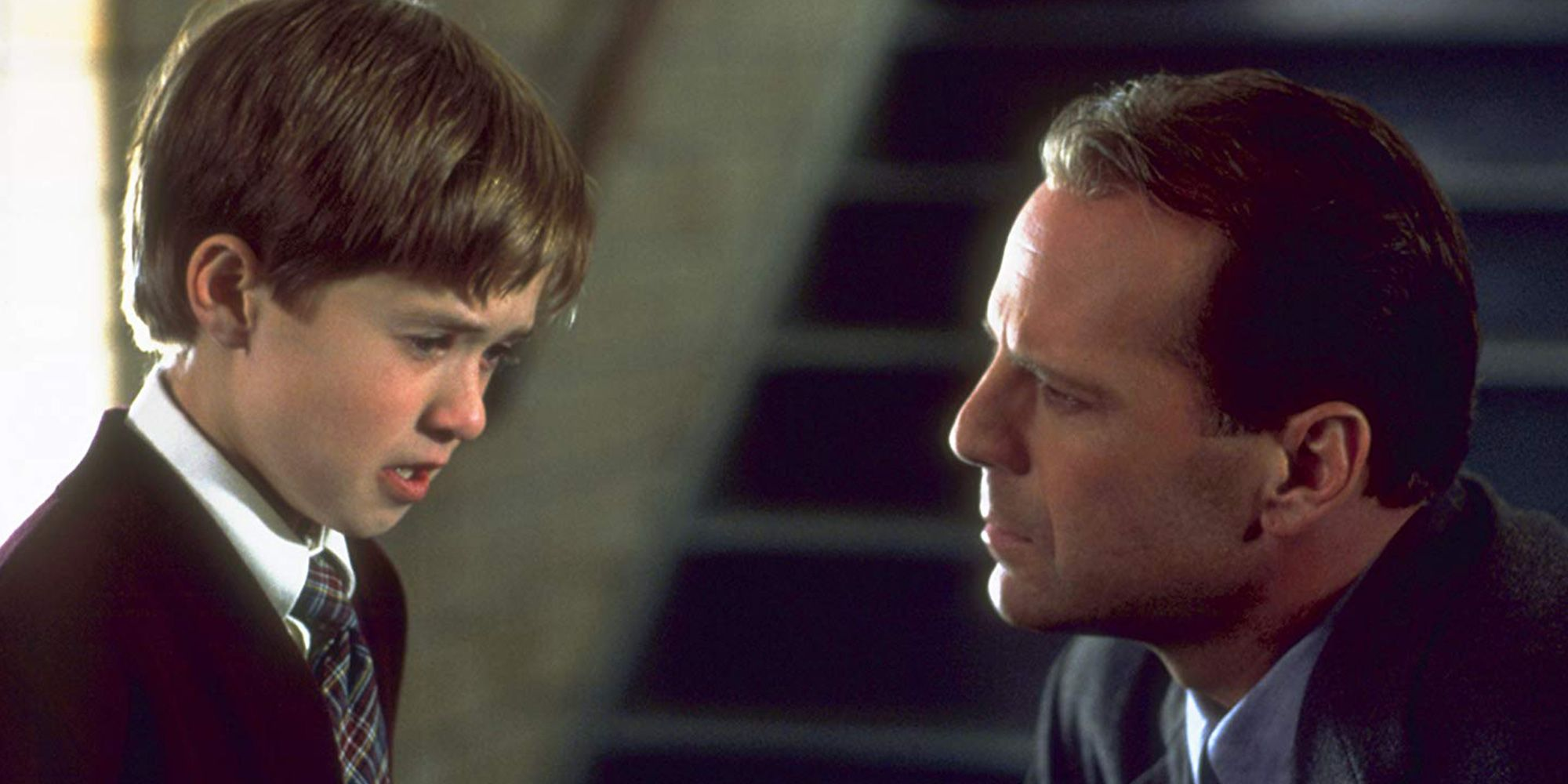 The Sixth Sense still photo with Haley JoelOsment and Bruce Willis