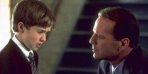 the sixth sense still photo with haley joel osment and bruce willis