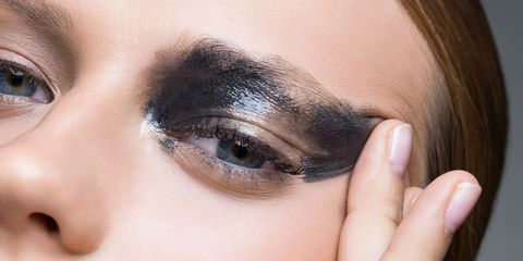 scary result of not removing mascara makeup