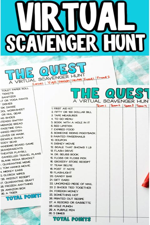 scavenger hunt ideas virtual scavenger hunt