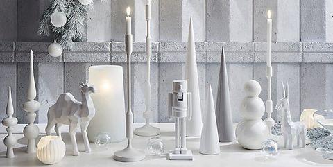 White, Design, Table, Glass, Display case, Room, Interior design, Vase, Furniture, Rectangle,