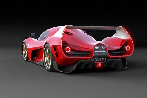 Scuderia Cameron Glickenhaus SCG 007 rendering rear 3-4
