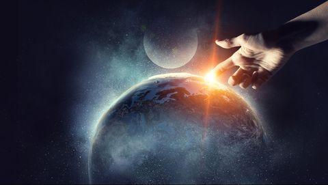 De wereld wordt geschapen