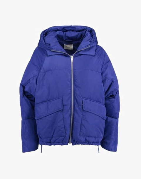 Jacket, Cobalt blue, Clothing, Hood, Outerwear, Blue, Violet, Purple, Sleeve, Electric blue,