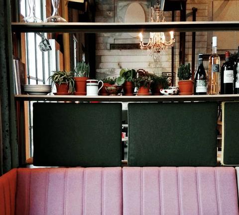 Shelf, Room, Furniture, Interior design, Bar, Table, Building, Liqueur, Restaurant, House,