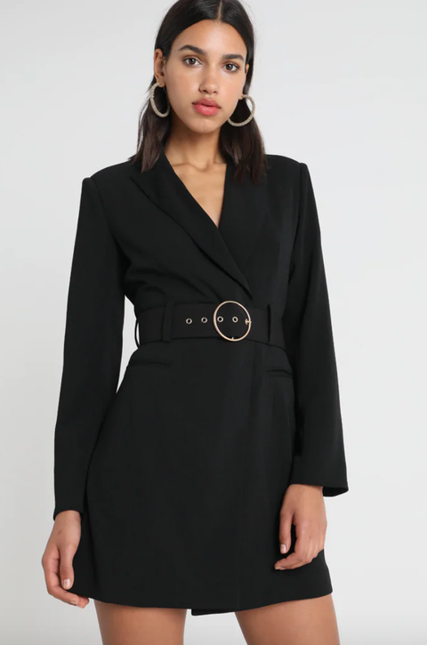 Clothing, Black, Outerwear, Dress, Coat, Sleeve, Overcoat, Formal wear, Fashion, Neck,