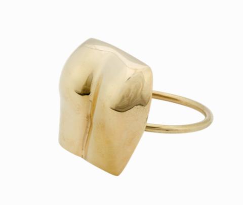 Beige, Yellow, Fashion accessory, Ear, Jewellery, Bangle, Ring, Brass, Metal,