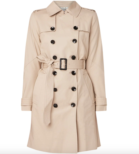 Clothing, Trench coat, Coat, Outerwear, Overcoat, Sleeve, Beige, Collar, Duster, Pocket,