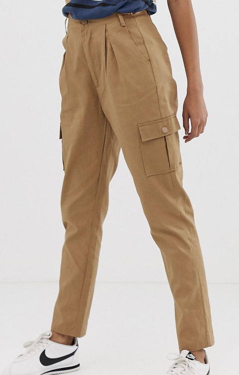 Clothing, Khaki, Pocket, Trousers, Brown, Suit trousers, Standing, Beige, Khaki pants, Cargo pants,