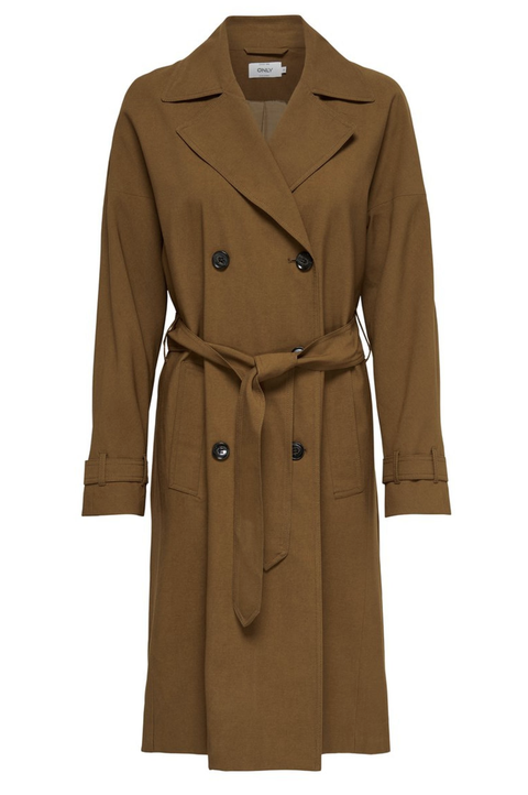 Clothing, Coat, Trench coat, Overcoat, Outerwear, Tan, Sleeve, Brown, Duster, Beige,