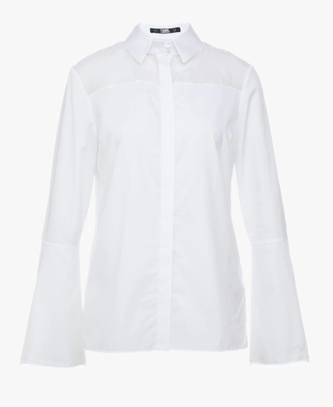 Clothing, White, Sleeve, Collar, Shirt, Blouse, Outerwear, Button, Top, Neck,