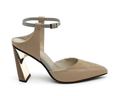 Footwear, High heels, Sandal, Beige, Shoe, Tan, Mary jane, Brown, Strap, Court shoe,