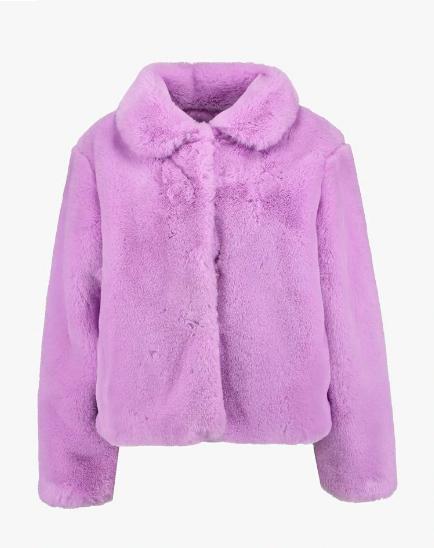 Clothing, Outerwear, Fur, Purple, Violet, Jacket, Hood, Pink, Sleeve, Lilac,
