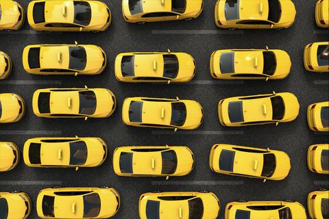 Alle taxi's in New York zijn geel