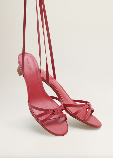 Footwear, High heels, Red, Pink, Shoe, Slingback, Sandal, Basic pump, Magenta,