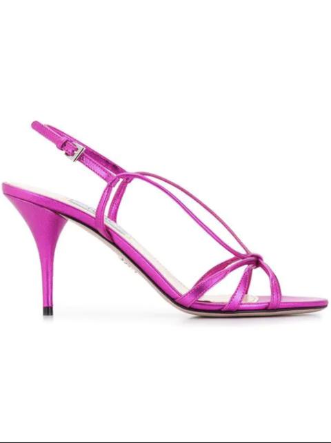 Footwear, Sandal, Slingback, Pink, High heels, Purple, Violet, Magenta, Shoe, Basic pump,