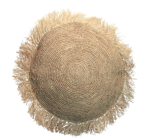 Hat, Circle, Beige, Headgear, Fashion accessory, Costume accessory, Feather, Sun hat, Lace wig, Straw,