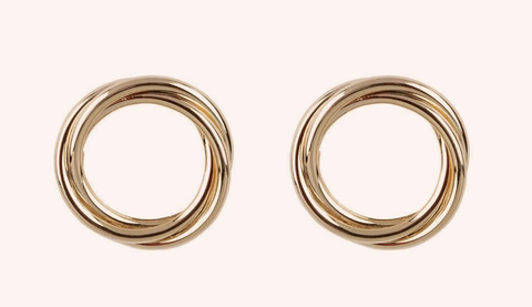 Earrings, Brass, Metal, Jewellery, Fashion accessory, Circle, Copper, Gold, Silver,