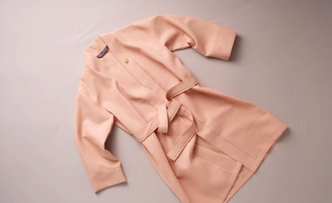 Clothing, Pink, Outerwear, Collar, Sleeve, Beige, Peach,