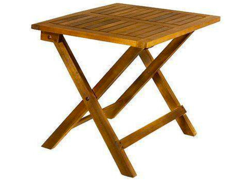 Furniture, Table, Outdoor furniture, Outdoor table, End table, Stool, Wood, Wood stain, Square, Plywood,