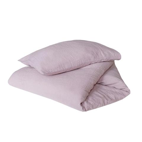 lila bedovertrek voor een kleuter van crisp sheets