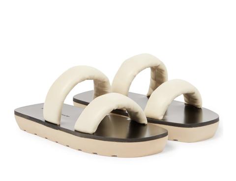 proenza schouler leren flatform slippers