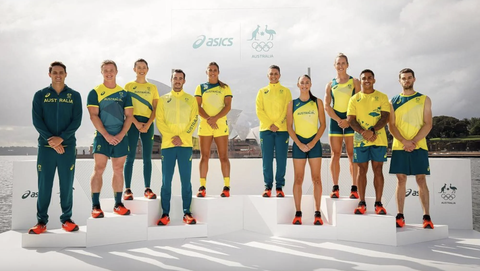 olympische spelen tokyo 2020 australie uniformen asics