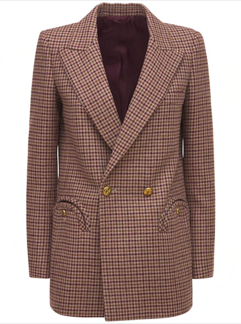 fw21 blazé milano svea wool double breasted blazer