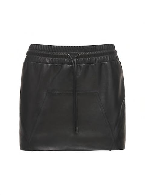 tom ford nappa leather mini skirt