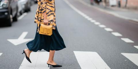 Clothing, Street fashion, Photograph, Yellow, Fashion, Snapshot, Outerwear, Coat, Waist, Footwear,