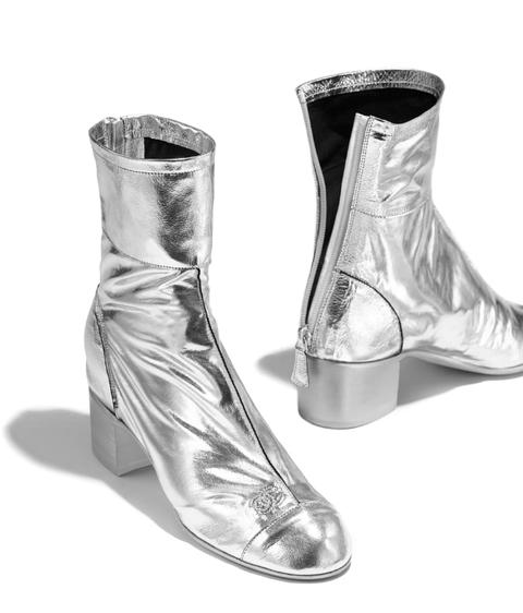 Footwear, White, Fashion, Grey, Boot, Silver, Fashion design, Synthetic rubber, Dancing shoe, High heels,