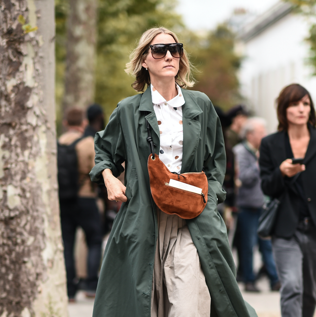 Street fashion, Clothing, Coat, Trench coat, Fashion, Outerwear, Fashion model, Overcoat, Footwear, Sunglasses,