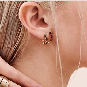 Ear, Skin, Earrings, Chin, Neck, Organ, Jewellery, Nose, Fashion accessory, Body jewelry,