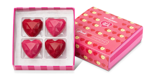 Heart, Pink, Rectangle, Box, Valentine's day, Square, Wedding favors,