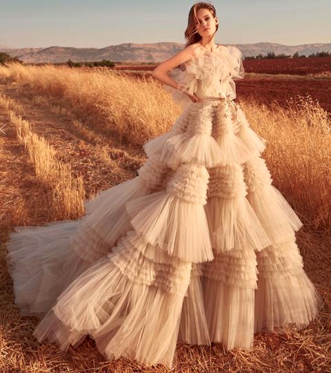 Wedding dress, Gown, Dress, Clothing, Photograph, Bridal clothing, Bride, Bridal party dress, Beauty, Fashion,
