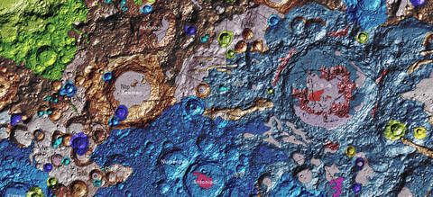 luna geologia