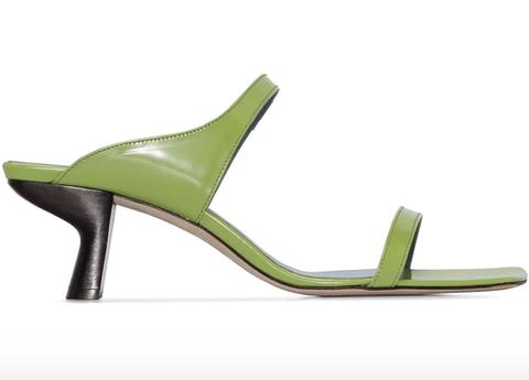 Footwear, Sandal, Green, High heels, Shoe, Slingback, Basic pump,